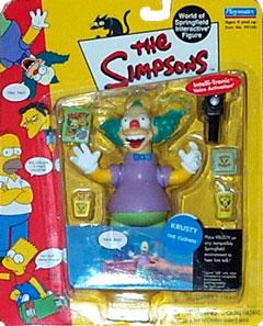 The Simpsons Wave 1 Playmates Action Figure Krusty the Clown Damaged Package!  Mint Contents!