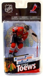 McFarlane Toys NHL Sports Picks Series 24 Action Figure Jonathan Toews (Chicago Blackhawks) Red Jersey Silver Collector Level Chase Only 1,000 Made!