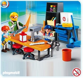 Playmobil School Set #4326 Woodshop Class