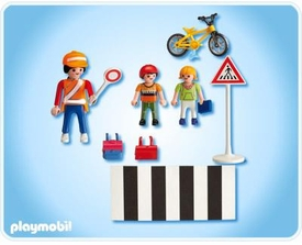 Playmobil School Set #4328 School Crossing Guard With Kids