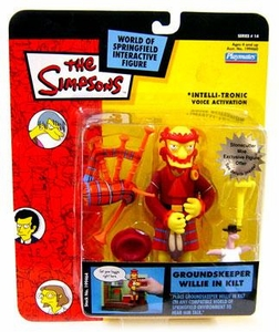 The Simpsons Series 14 Playmates Action Figure Groundskeeper Willie in Kilt
