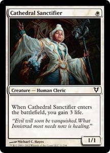 Magic the Gathering Avacyn Restored Single Card White Common #11 Cathedral Sanctifier