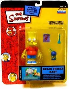 The Simpsons Series 16 Playmates Action Figure Brain Freeze Bart