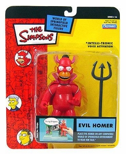 The Simpsons Series 16 Playmates Action Figure Evil Homer