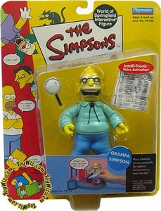 The Simpsons Wave 1 Playmates Action Figure Grampa Abe Simpson