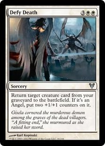 Magic the Gathering Avacyn Restored Single Card White Uncommon #16 Defy Death