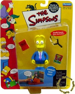 The Simpsons Wave 2 Playmates Action Figure Sunday Best Bart