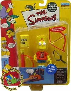 The Simpsons Wave 3 Playmates Action Figure Kamp Krusty Bart