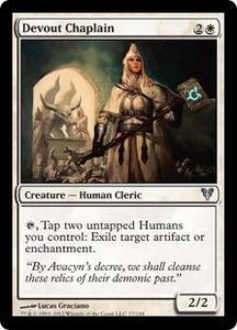 Magic the Gathering Avacyn Restored Single Card White Uncommon #17 Devout Chaplain