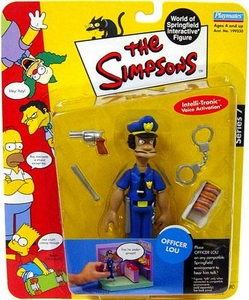 The Simpsons Series 7 Playmates Action Figure Officer Lou
