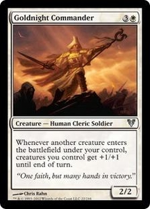 Magic the Gathering Avacyn Restored Single Card White Uncommon #22 Goldnight Commander