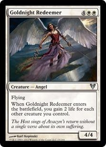 Magic the Gathering Avacyn Restored Single Card White Uncommon #23 Goldnight Redeemer