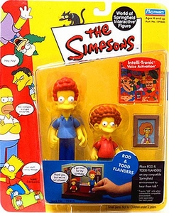 The Simpsons Series 9 Playmates Action Figure Rod & Todd Flanders