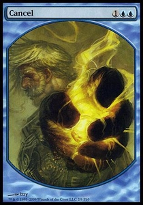 Magic the Gathering Textless Player Rewards Promo Card Cancel [Textless Player Rewards]