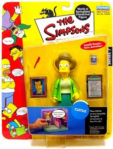 The Simpsons Series 7 Playmates Action Figure Mrs. Krabappel [Factory Error]