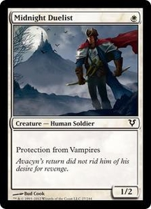Magic the Gathering Avacyn Restored Single Card White Common #27 Midnight Duelist