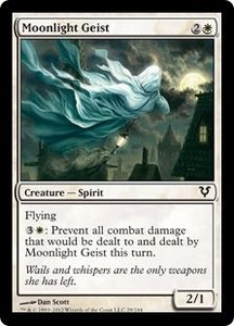 Magic the Gathering Avacyn Restored Single Card White Common #29 Moonlight Geist