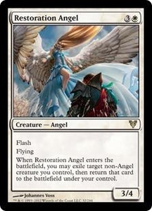 Magic the Gathering Avacyn Restored Single Card White Rare #32 Restoration Angel