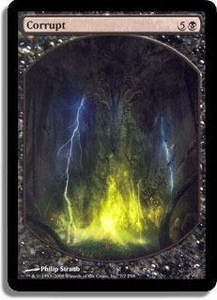 Magic the Gathering Textless Player Rewards Promo Card Corrupt [Textless Player Rewards]