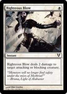Magic the Gathering Avacyn Restored Single Card White Common #34 Righteous Blow