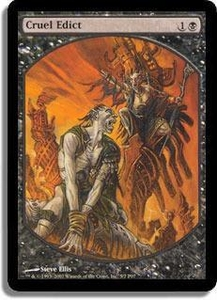 Magic the Gathering Textless Player Rewards Promo Card Cruel Edict [Textless Player Rewards]