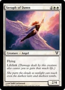 Magic the Gathering Avacyn Restored Single Card White Common #35 Seraph of Dawn