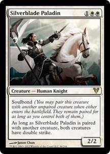 Magic the Gathering Avacyn Restored Single Card White Rare #36 Silverblade Paladin