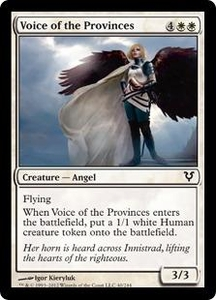 Magic the Gathering Avacyn Restored Single Card White Common #40 Voice of the Provinces