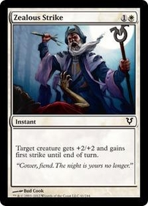 Magic the Gathering Avacyn Restored Single Card White Common #41 Zealous Strike