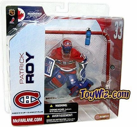 McFarlane Toys NHL Sports Picks Series 5 Action Figure Patrick Roy (Montreal Canadiens) Red Jersey Variant
