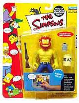 The Simpsons Series 8 Playmates Action Figure Ragin' Willie [LOOSE]