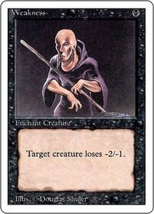 Magic the Gathering Revised Edition Single Card Common Weakness