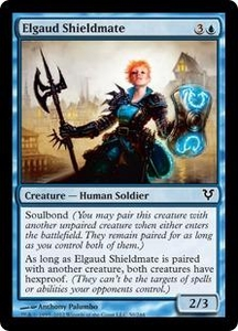 Magic the Gathering Avacyn Restored Single Card Blue Common #50 Elgaud Shieldmate