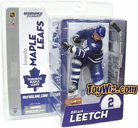 McFarlane Toys NHL Sports Picks Series 9 Action Figure Brian Leetch (Toronto Maple Leafs) Blue Jersey