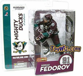 McFarlane Toys NHL Sports Picks Series 9 Action Figure Sergei Fedorov (Anaheim Mighty Ducks) Purple Jersey