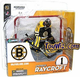 McFarlane Toys NHL Sports Picks Series 9 Action Figure Andrew Raycroft (Boston Bruins) Black Jersey