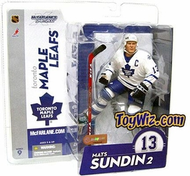 McFarlane Toys NHL Sports Picks Series 9 Action Figure Mats Sundin (Toronto Maple Leafs) White Jersey