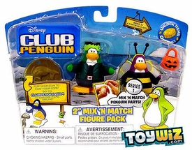 Disney Club Penguin Series 1 Mix 'N Match Mini Figure Pack Bumble Bee & Frankenpenguin [Includes Coin with Code!]