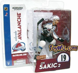 McFarlane Toys NHL Sports Picks Series 9 Action Figure Joe Sakic (Colorado Avalanche) White Jersey
