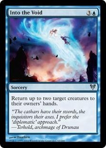 Magic the Gathering Avacyn Restored Single Card Blue Uncommon #62 Into the Void