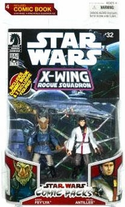 Star Wars 2009 Comic Book Action Figure 2-Pack X-Wing Rouge Squadron Borsk Fey'la & Wedge Antilles