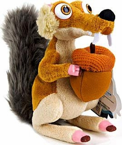 Ice Age Continental Drift Movie 6 Inch Mini Plush Scrat