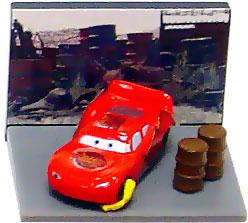 Disney / Pixar CARS Movie Collection Gacha Micro PVC Figure Lightning McQueen (Impound Lot)
