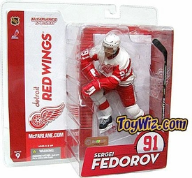 McFarlane Toys NHL Sports Picks Series 9 Action Figure Sergei Fedorov (Detroit Red Wings) Red Wings Variant