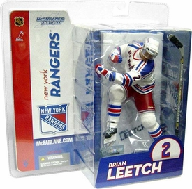 McFarlane Toys NHL Sports Picks Series 9 Action Figure Brian Leetch (New York Rangers) Rangers White Jersey Variant