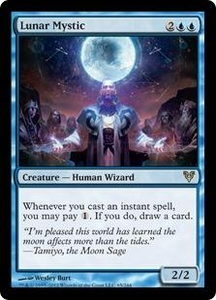 Magic the Gathering Avacyn Restored Single Card Blue Rare #65 Lunar Mystic