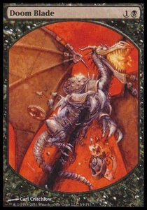 Magic the Gathering Textless Player Rewards Promo Card Doom Blade [Textless Player Rewards]
