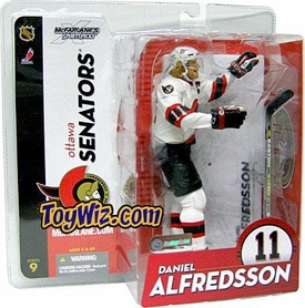 McFarlane Toys NHL Sports Picks Series 9 Action Figure Daniel Alfredsson (Ottawa Senators)  White Jersey Variant
