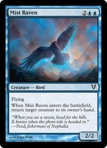 Magic the Gathering Avacyn Restored Single Card Blue Common #67 Mist Raven