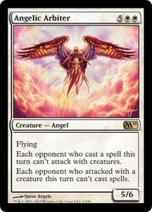 Magic the Gathering Magic 2011 (M11) Single Card Rare #4 Angelic Arbiter
